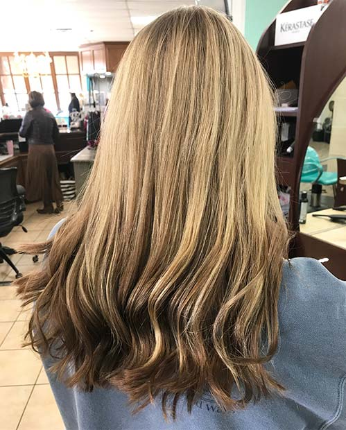 Дарк Blonde to Brunette Reverse Balayage