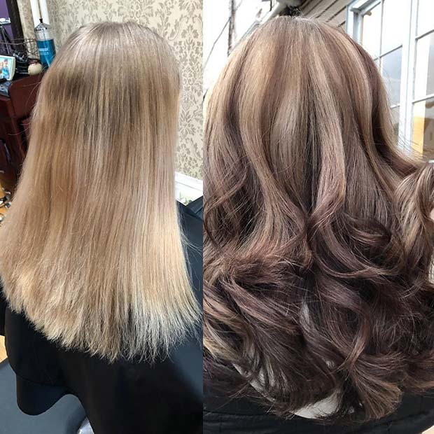 Плавуша and Brunette Reverse Balayage