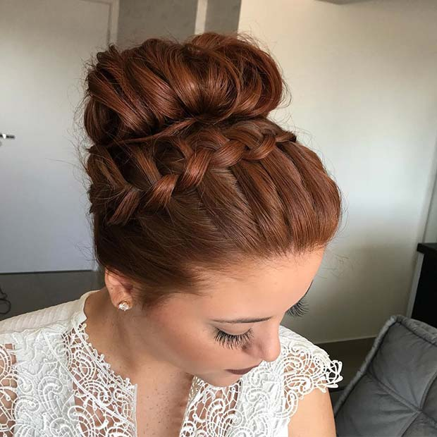 Лепа French Braid and Bun