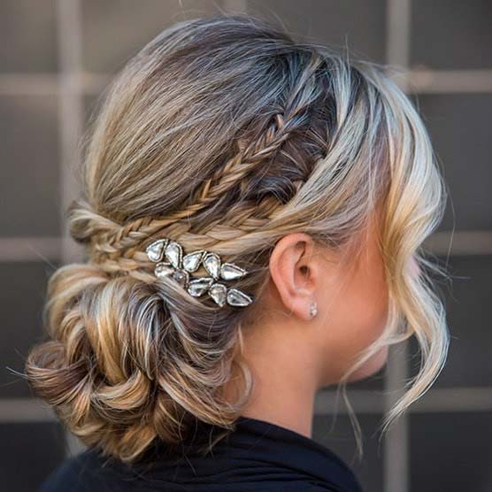 Fonott Updo with a Sparkling Accessory
