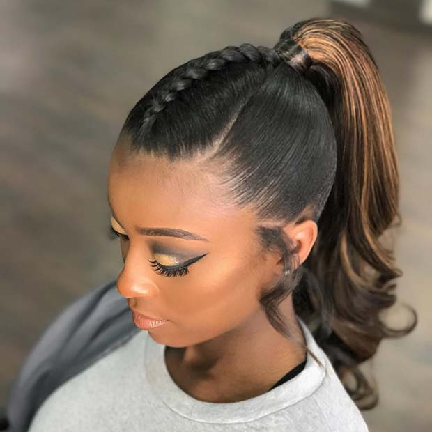 Sima and Stylish Braid into a Ponytail