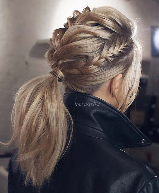 Стилски Multi Braid Ponytail Look