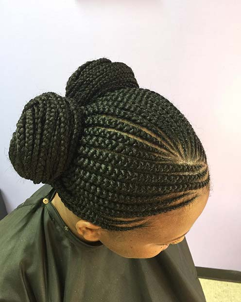 प्यारा Double Bun Braids for Summer Protective Styles for Black Women