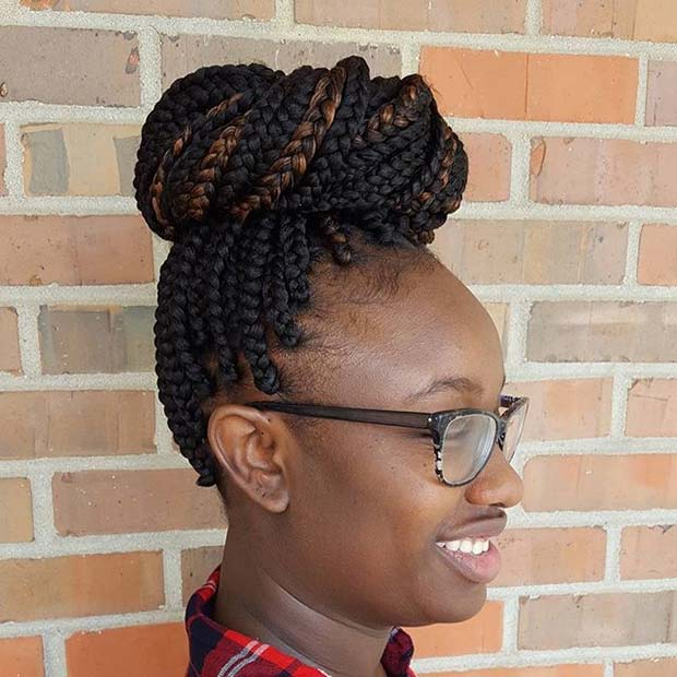 डिब्बा Braid Bun for Summer Protective Styles for Black Women