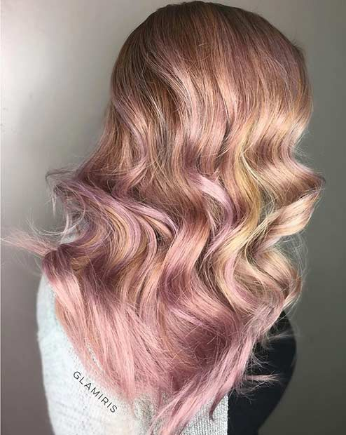 Blondinka and Rose Gold Hair Color Idea