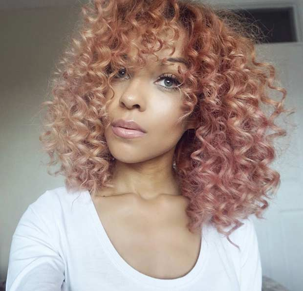 Skrivnost Rose Gold Hair for Black Women