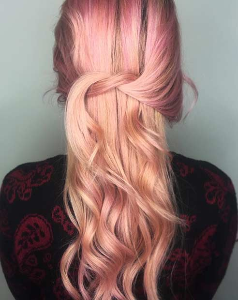 Svetloba Rose Gold Hair Color Idea