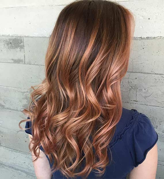 padec Rose Gold Hair Color Idea