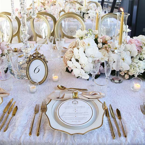 Glam Wedding Table Settings