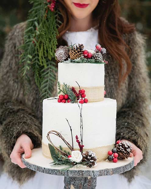 Вјенчање Cake with a Winter Touch
