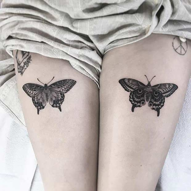 יָרֵך Butterfly Tattoo Design for Women