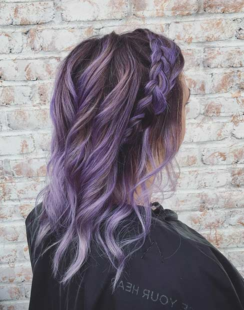 boemski Lavender Hair Color Idea