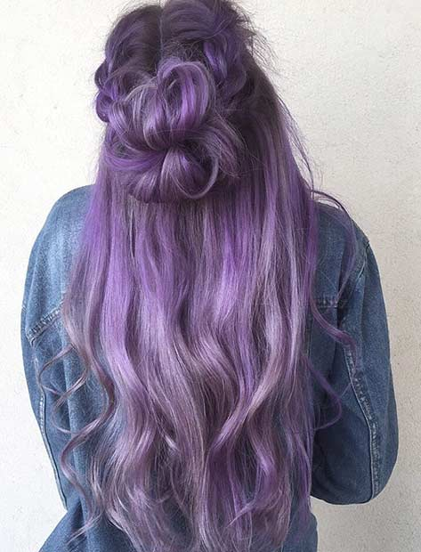 dolga Lavender Hair Color Idea