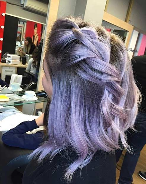 Lavanda Hair with Dark Roots