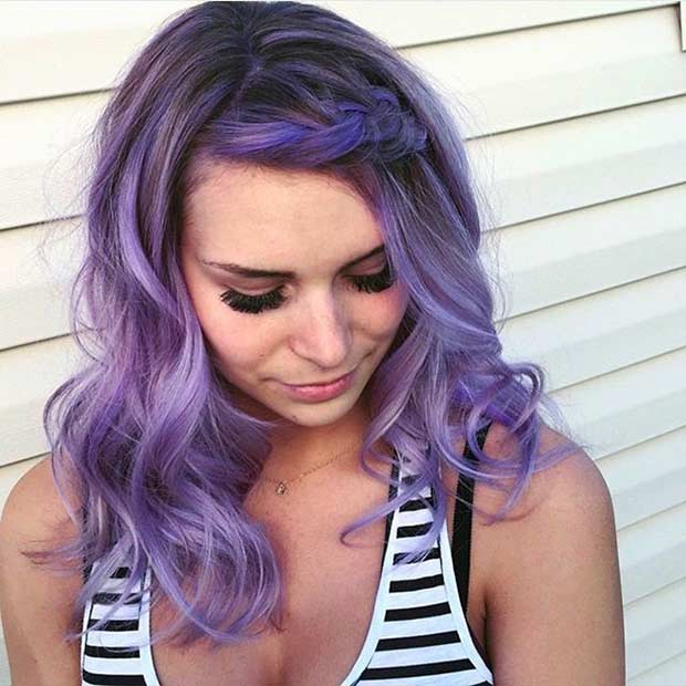 Temno Purple and Lavender Hair