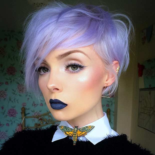 Lavanda Long Pixie Cut