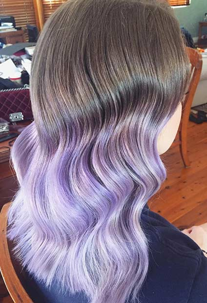 Brineta to Lavender Ombre Hair