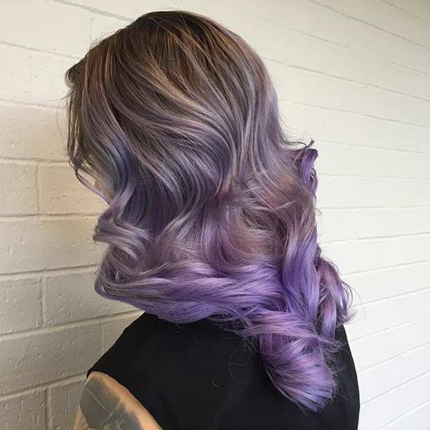 Lavanda Ombre Hair Color Idea
