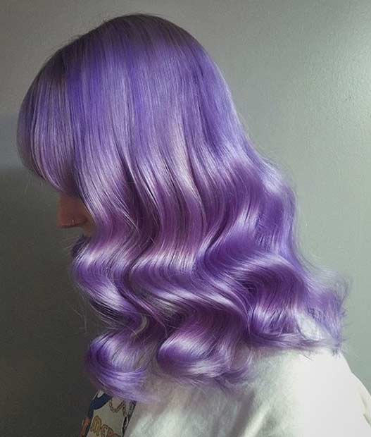 treperav Lavender Hair Color Idea