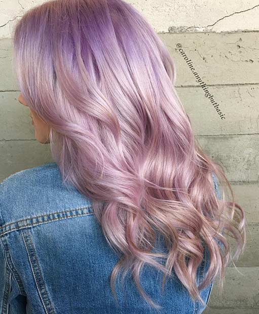 Led Lavender Hair Color Idea