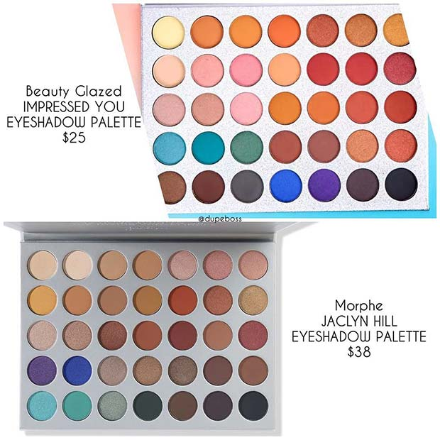 Morphe Jaclyn Hill Palette Dupe