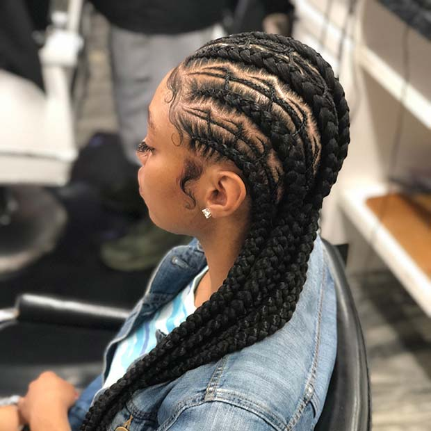 Trendig Feed In Cornrow Braids