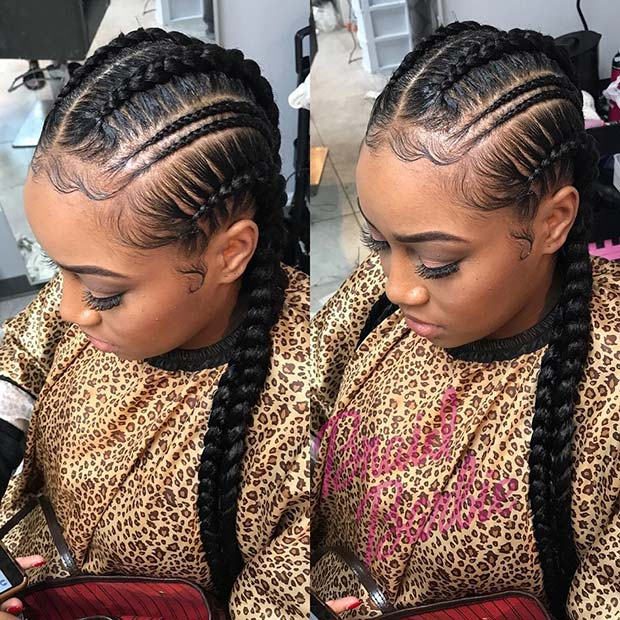 Trendig Thin Double Feed In Braids