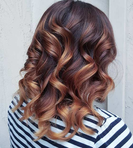 Luminos Copper Balayage Hair for Fall