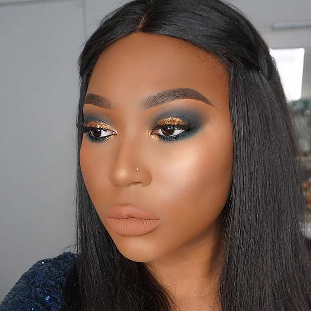 Fekete and Gold Smokey Eye for Black Women