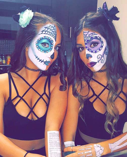 Sladkor Skull BFF Matching Halloween Costume Idea