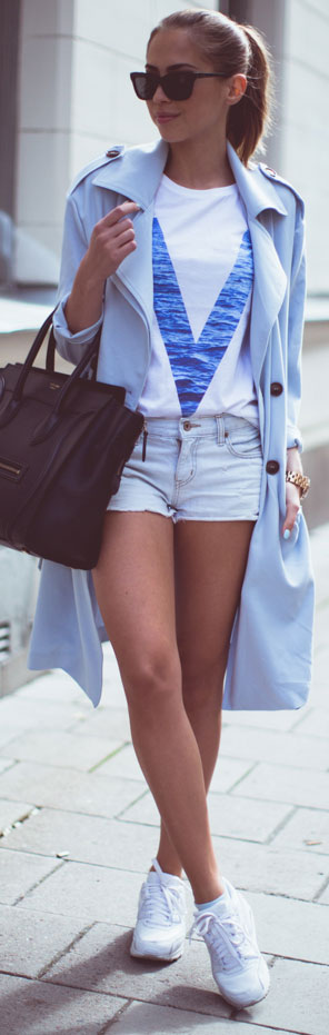 Lung Trench Coat Casual Spring Outfit