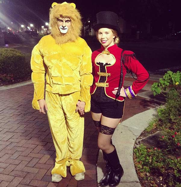 Aslan and Lion Tamer Couple Halloween Costume