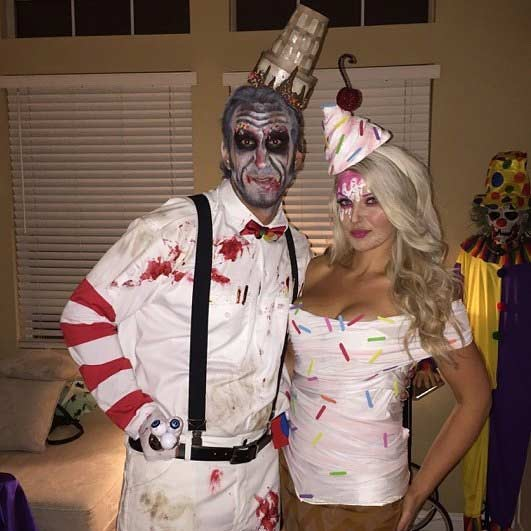 korkutucu Ice Cream Couple Halloween Costume