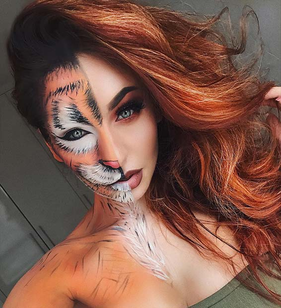 बाघ Makeup for Unique Halloween Makeup Ideas to Try