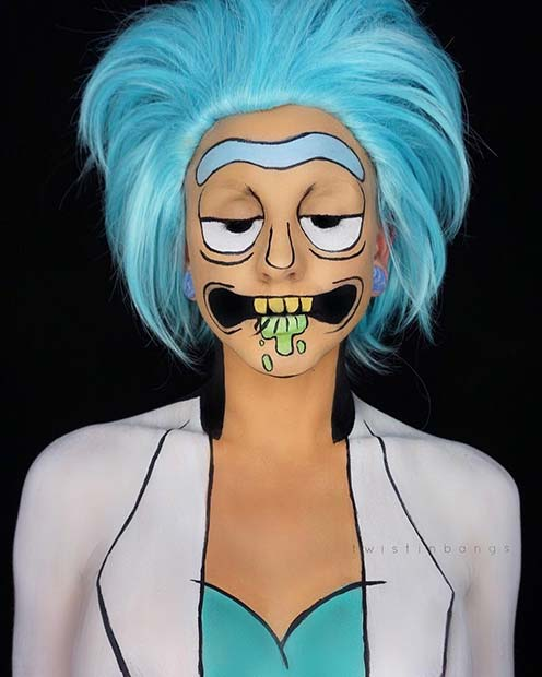 पोरौटी from Rick and Morty for Unique Halloween Makeup Ideas to Try