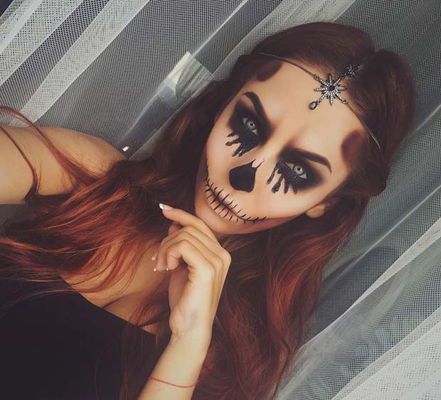 ग्लैमर Skull for Unique Halloween Makeup Ideas to Try