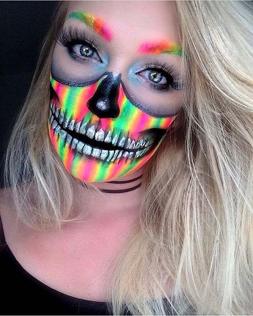 वाइब्रेंट Skull Makeup for Unique Halloween Makeup Ideas to Try