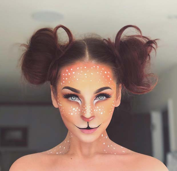बांबी Inspired Makeup for Unique Halloween Makeup Ideas to Try