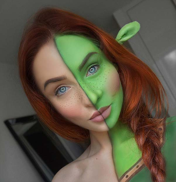 मज़ा Princess Fiona Makeup for Unique Halloween Makeup Ideas to Try
