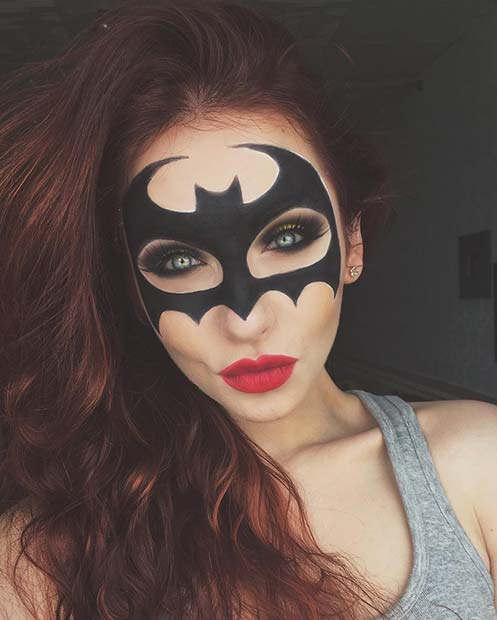 बैटमैन Mask Makeup for Unique Halloween Makeup Ideas to Try