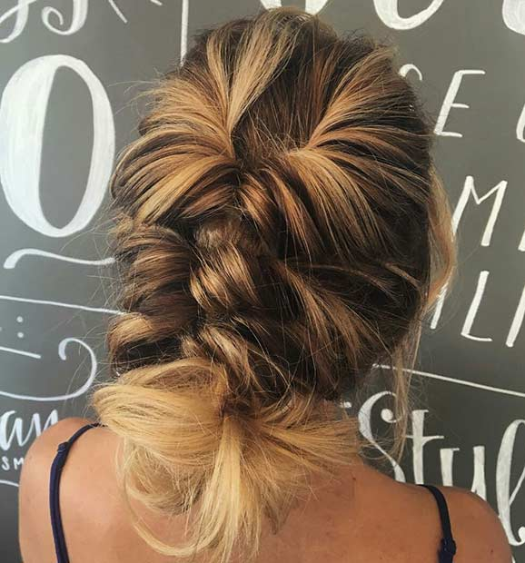 Csavart Updo Idea for Thin Hair