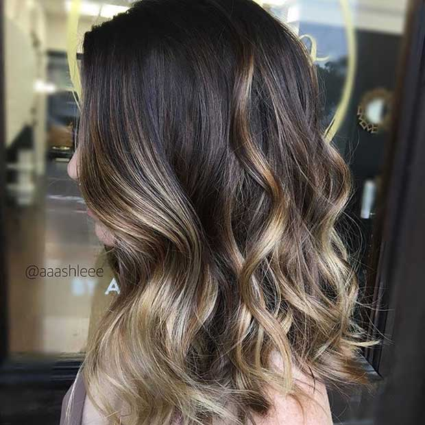 Blondinka Balayage Highlights for Dark Hair