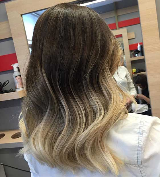 mrak to Blonde Ombre Lob
