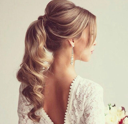 Elegantno Curly Ponytail