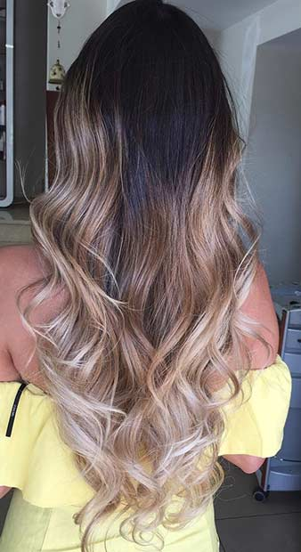 Bej Blonde Balayage Ombre for Brunettes