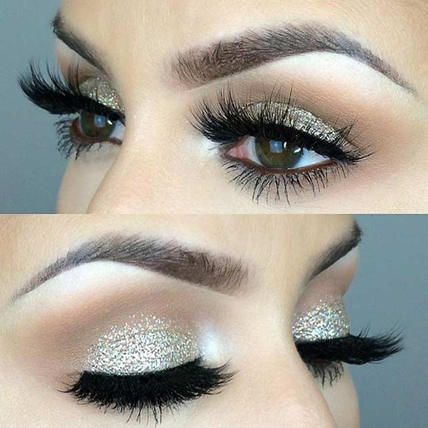csillogó Wedding Eye Makeup Look for Brides