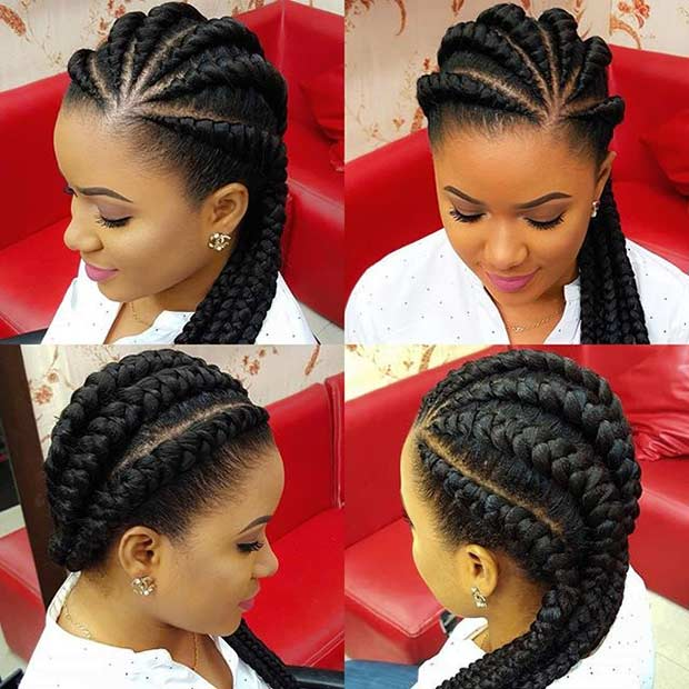 ghana Braids Protective Hairstyle