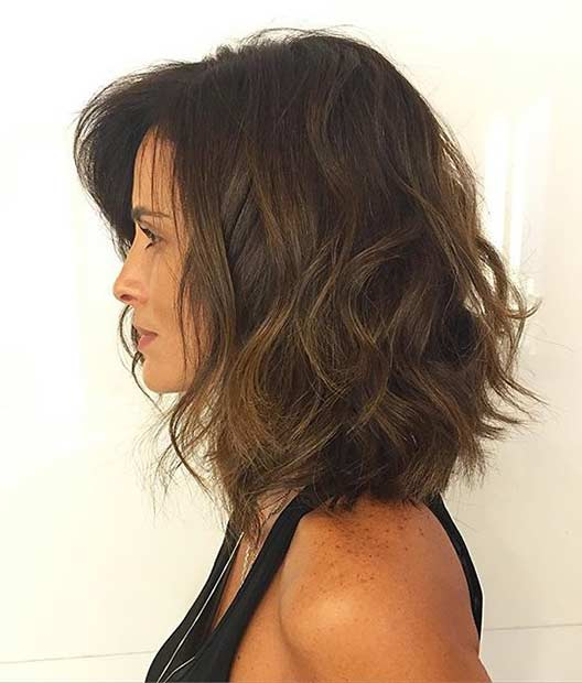Murdar and Textured Bob Haircut Idea