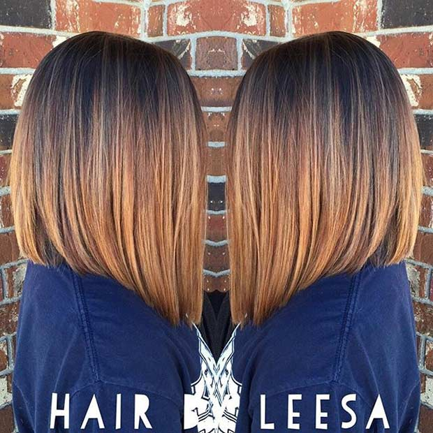 בֵּינוֹנִי Length Balayage Bob Hairstyle