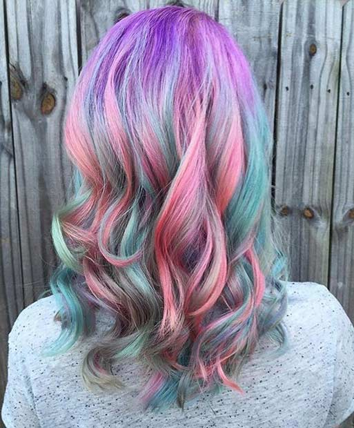 קשת בענן Candy Hair Color Idea